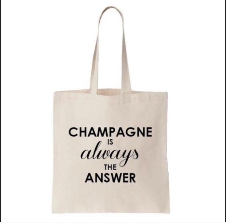 champagne tote bag. Black Bedroom Furniture Sets. Home Design Ideas